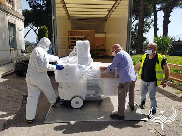 Foto HTS med consegna Sistema DR a Procida